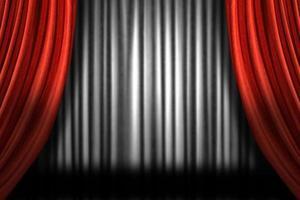 horizontale Bühnenvorhänge foto