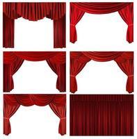 dramatische rote altmodische elegante Theaterbühnenelemente foto