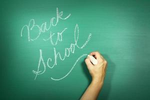"""grünes Hintergrundbild mit dem Thema """"Zurück zur Schule"""" foto"""