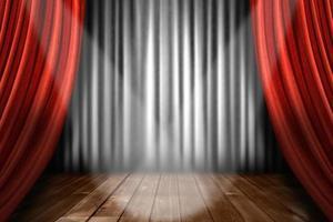 Rampenlicht auf der Bühne foto