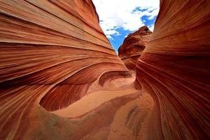 die welle navajo sandformation in arizona usa foto