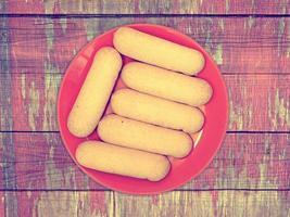 Kekse auf dem Holzhintergrund foto