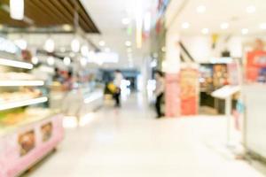 abstraktes verschwommenes Einkaufszentrum foto