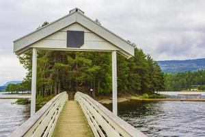 vesleoye insel natur in der stadt fagernes fylke innlandet norwegen. foto