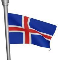 isländischer nationaler tag foto