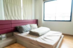 abstrakte Unschärfe Schlafzimmer Interieur für Hintergrund foto