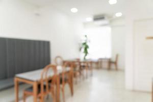 abstraktes Unschärfe-Café und Café-Restaurant für den Hintergrund foto