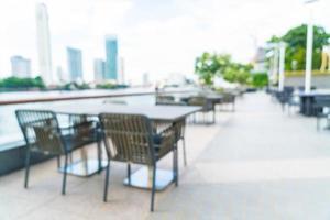 abstrakte Unschärfe Restaurant im Freien für Hintergrund foto