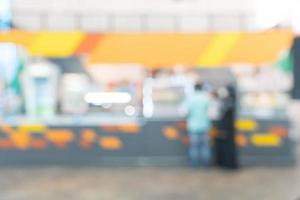 abstrakte Unschärfe im Restaurant für den Hintergrund foto