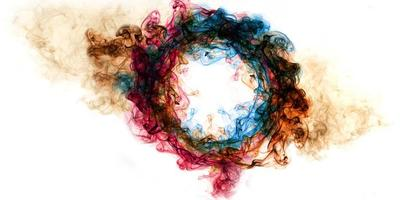 Rauchkreisrahmen der Kunst ist bunt foto