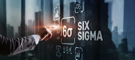 Six Sigma. Managementkonzept zur Verbesserung der Arbeitsqualität einer Organisation oder einer separaten Einheit foto