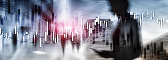 Finanzmarktdiagramm. Website-Wirtschaftsbanner. foto