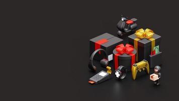 Schwarzer Freitag Zielseitenvorlage mit 3D-Rendering-Illustration foto