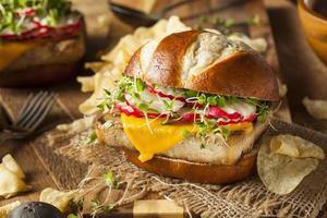 hausgemachter vegetarischer Soja-Tofu-Burger