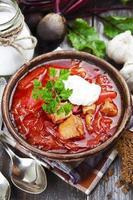 borsh. russisches traditionelles Gericht