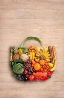 Lebensmittel gemacht Handtasche