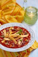 Hühnchen Tortilla Suppe