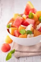 Melone, Wassermelone und Käse foto