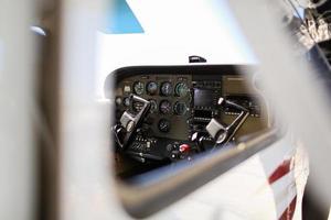 Flugzeugcockpit foto