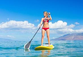 Stand Up Paddle Surfen in Hawaii foto