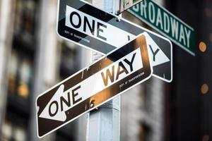 Straßenschild am Broadway in Manhattan, New York City foto