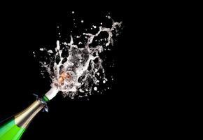 Champagner knallen lassen foto