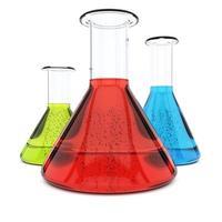 Chemieflaschen foto