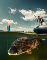 geteilte Aufnahme des Fischers foto