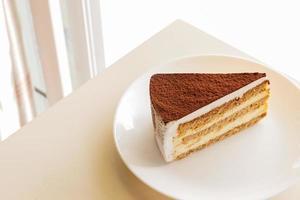 Tiramisu-Belag mit Kakaopulver foto