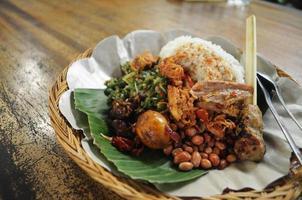 balinesischer gemischter Reis foto