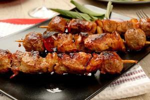 Fleischspieße fertig gekocht