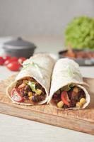 hausgemachter veganer Bohnen-Burrito