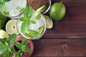 Glas Mojito-Cocktail foto