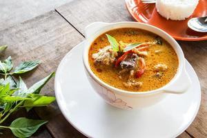 grünes Curry Huhn, thailändisches Essen foto