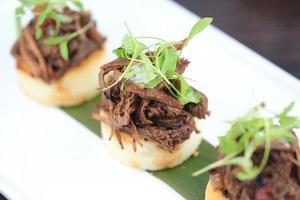 Rindfleisch Arepa foto