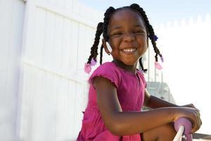 süßes afroamerikanisches Kind foto