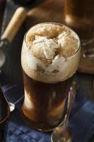gefrorenes dunkles dickes Bier schwimmt foto