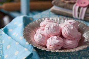 gesundes diätetisches hausgemachtes Zephyr kalorienarmes Dessertrezept. Provence-Stil foto