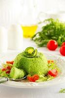 Flan-Zucchini-Kuchen. foto