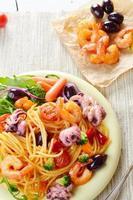 Meeresfrüchte Spaghetti Marinara Nudelgericht foto