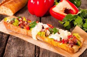 großes Baguette-Sandwich foto