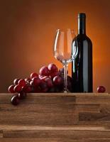 Traube und Rotwein