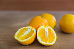reife Frucht, reife Orange foto
