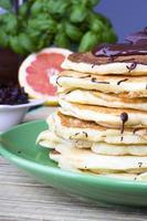 Pfannkuchen mit Schokolade