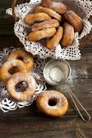 frische hausgemachte Donuts foto