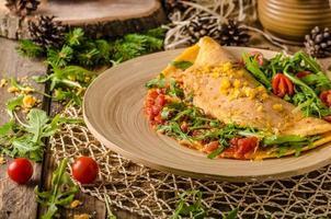 vegetarisches Omelett foto