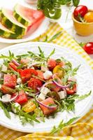 Tomaten-Wassermelonen-Salat foto