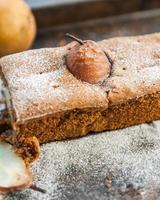 Kuchen mit Birnen foto