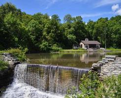 Wasserfall im Park foto