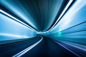Langzeitbelichtung im Fort Mchenry Tunnel, Baltimore, Maryl
